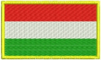Hungary flag Embroidered Patch #2