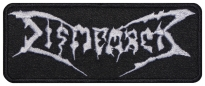 Dismember music band embroidered patch v2