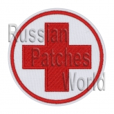 Red cross medic embroidered patch