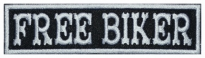 Free biker motorcycle embroidered strip patch #2