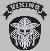 Viking strip ornament embroidered patch v4
