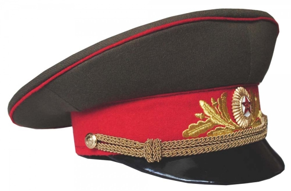 ded77641060 Soviet Army Military Marshal USSR Uniform Daily Visor Hat Replica