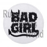 Bad girl machine embroidery patch v5