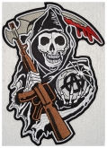 Sons of anarchy skull embroidered patch