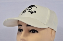 Skull with bones Cap White Embroidered