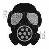 Gas mask Airsoft game embroidered patch v2