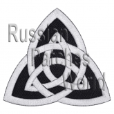 Celtic knot ornament machine embroidered patch black