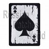 Poker card Ace of Spades embroidery patch v2