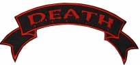 Death Biker motorcycle back jacket embroidered patch