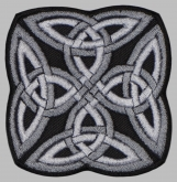 Knot celtic ornament machine embroidered patch #9