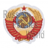 Soviet Union coat of arms Interkosmos embroidered patch