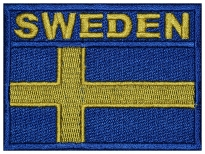 Sweden flag Embroidered Patch #3