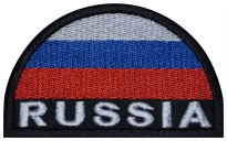 Russian Federation Flag of Russia Embroidered Patch ARCH engl Black Edge