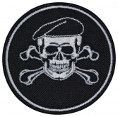 Skull in beret military game airsoft patch