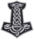 Mjolnir Thor's hammer jacket embroidered big patch #9