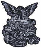 Viking norse beer helmet wings embroidery patch