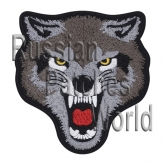 Wolf Angry head embroidery patch #3