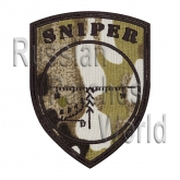 Sniper scope embroidered camo patch