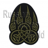 Wolf's paw celtic airsoft embroidered patch