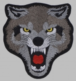 Wolf Angry head big embroidery patch #1