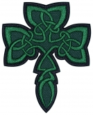 Shamrock clover celtic embroidery patch #5