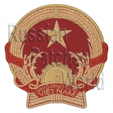 Vietnam coat of arms Interkosmos embroidered patch