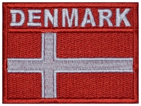 Denmark flag Embroidered Patch #3