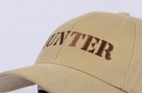 Hunter Embroidered Logo Cap Beige