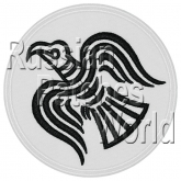 Raven Norse mythology Odin embroidered patch v2