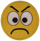 Smile Face smiley embroidered patch #10