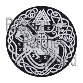 Odin god Norse mythology embroidered patch