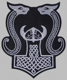 Mjolnir Thor's hammer jacket embroidered big patch #7