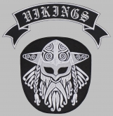Viking strip ornament embroidered patch v3