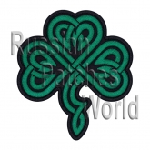Shamrock clover celtic embroidered patch