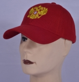 Russian Insignia 2-Head Eagle Baseball Trucker Cap Red
