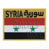 Syria flag Soyuz TM-3  interkosmos space program patch