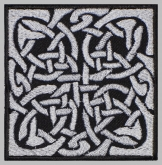 Knot celtic ornament machine embroidered patch #10