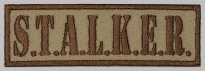 Stalker strip embroidered patch #6