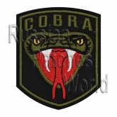 Cobra head snake airsoft embroidered patch black