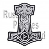 Mjolnir Thor's hammer jacket embroidered big patch black v.2