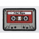 Custom audio cassette patch embroidered