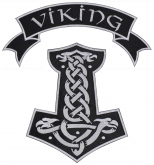 Mjolnir Thor's hammer, ribbon embroidered big patch