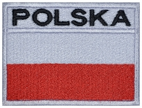 Poland, Polska flag Embroidered Patch #3