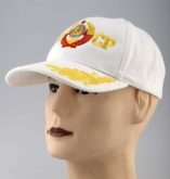 USSR Russian Soviet Arms CCCP Baseball Embroidered Cap Hat White rus