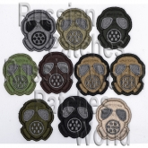 Gas mask patch set ten pieces embroidered