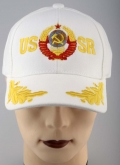 USSR Russian Soviet Arms CCCP Baseball Embroidered Cap Hat White engl