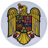 Crest of ROMANIA Embroidered Sleeve Patch