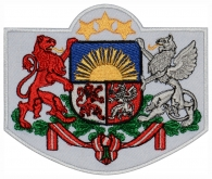 Coat of Arms of Latvia embroidered patch