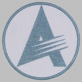 Air show aviation salon MAKS logo embroidered patch