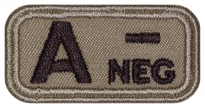 Blood Type Patch A (II) Rh- neg embroidered velcro patch #2